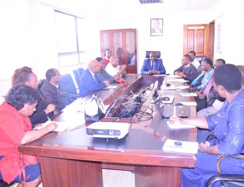 TVETA DG and staff hold entry meeting with officers from Office of Auditor General